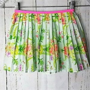 Floral Pleated Skirt Size S